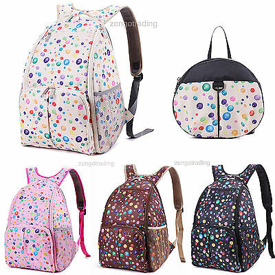 New Cute Mummy bag Backpack Baby Diaper Nappy Changing Bag for baby mommy/2 bags