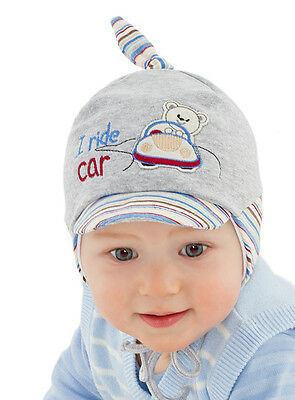 Baby Boy Infant Hat Boys Spring Autumn Cap With Car 0 3 6 9 12 mths