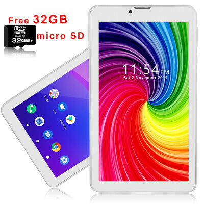 Android 4.4 KK 7in 3G SmartPhone Tablet PC DualCore Bluetooth WiFi GPS UNLOCKED
