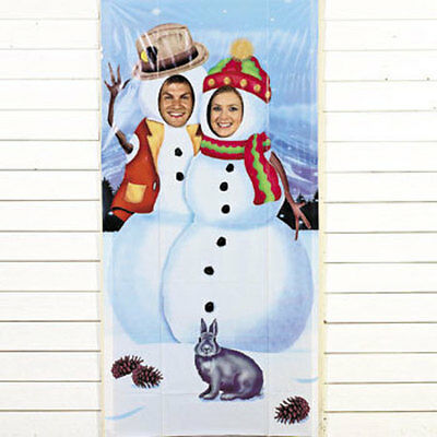 Snowmen Snowman Photo Door Banner Christmas Holiday Party Game