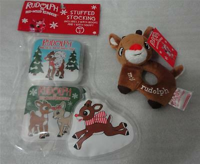 My first rudolph the red nosed reindeer christmas plush rattle bath
