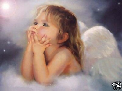 """Handicrafts Repro oil painting:""""lovely little girl angel"""" 24x36 Inch"""