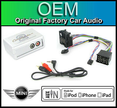 BMW Mini Cooper AUX in lead Car stereo iPod iPhone MP3 player adapter connection