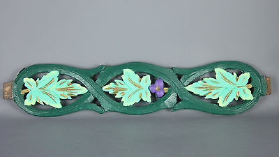 Antique French salvaged wood carved Painted Piece   -FSP118