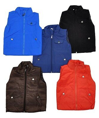 Childsboys Girls Babies Padded Gilets Bodywarmers Ex Chainstore 5 Colours Outdoor Sports Equestrian