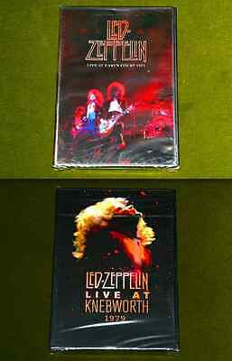 2x DVD Lot LED ZEPPELIN LIVE AT EARL'S COURT 1975 & LIVE AT KNEBWORTH 1979 New