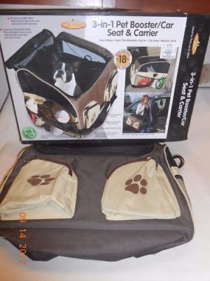 Etna Pet Booster Car Seat Carrier Shoulder Bag Cats Dogs Travel Bag TWO SIZE New