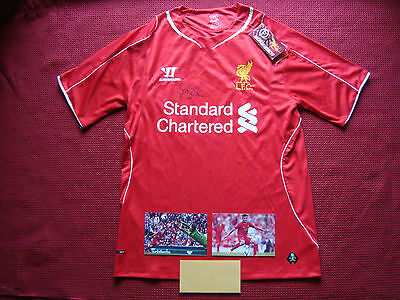 Liverpool Philippe Coutinho Personally Signed Home 2014/15 Shirt-Small- New- Coa