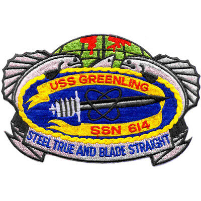 SSN-614 USS Greenling Patch