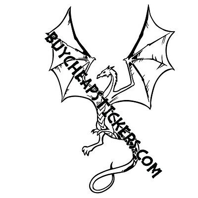 Dragon Vinyl Decal - Sticker 4x6 - Any Color