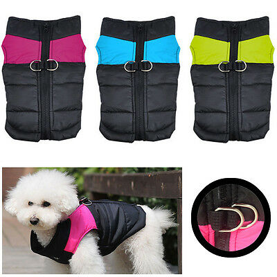 Small Waterproof Pet Dog Puppy Coat Jacket Winter Quilted Padded Puffer Jacket