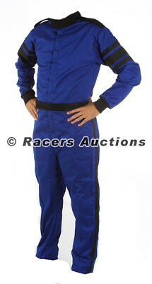Large Blue One Piece Single Layer Driving Suit Fire Race SFI Rated
