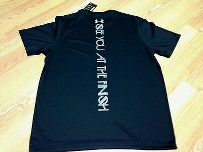 """Under Armour """"SEE YOU AT THE FINISH LINE"""" Men Black T-Shirt, 1255398"""