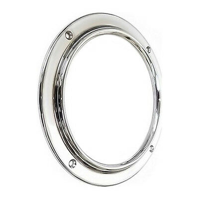 "Canal boat 6.1/8"" chrome porthole (nb - glass supplied separately)   CP004"