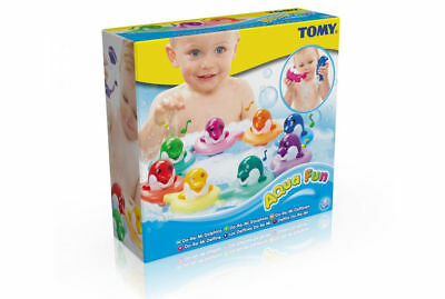 Tomy Baby Kids toddler Do Re Mi Dolphins Bath time squirt water Floating Toy