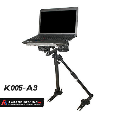 Laptop Mount Stand Holder For Car With Non-Drilling Bracket + Supporting Arm Kit