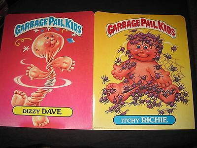 1985 Garbage Pail Kids GPK Vintage Folders #1 & #3 with OS1/OS2 characters