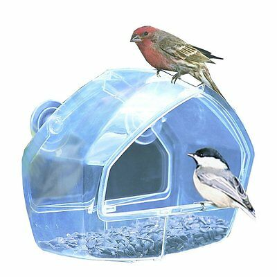 Birdscapes Clear Window Feeder 348 by Perky-Pet Size:6.88W x 5.6D ins.(348) AOI