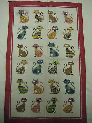 CATS TEA TOWEL by ULSTER WEAVERS GROOVY CATS GOOD QUALITY GREAT PRESENT