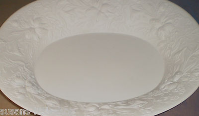 Kaiser White Porcelain Huge Dish Plate Fruit Bowl Platter Signed M. Frey