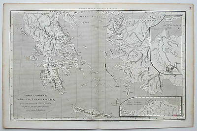 1806 Ancient Greece Thrace Antique Map by Macpherson