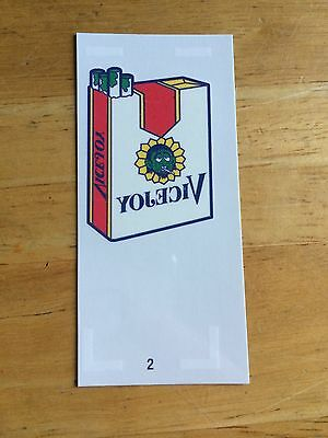 NEW TOPPS WACKY PACKAGES OLD SCHOOL 5 5th SERIES TATTOO VICEJOY 2 CIGARETTES CIG