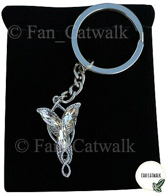 Arwen Evenstar Necklace KEYCHAIN Gift KEY RING Hobbit LOTR Lord of the Rings