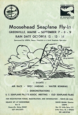 Greenville Seaplane Fly-In 1974 First Official Poster Of Water Flying Event