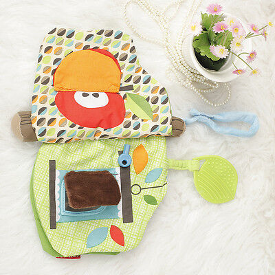 Soft Cloth Book for Baby Infant Toddlers forest tree Teether Developmental Toy