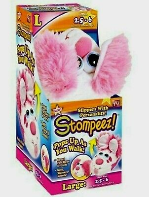 New STOMPEEZ Slippers KIDS TEEN Seen On TV  Small-Medium-Large New in Box