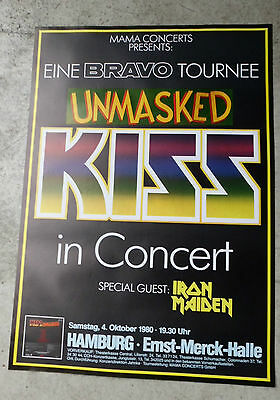 1980  KISS IRON MAIDEN CONCERT POSTER GERMANY