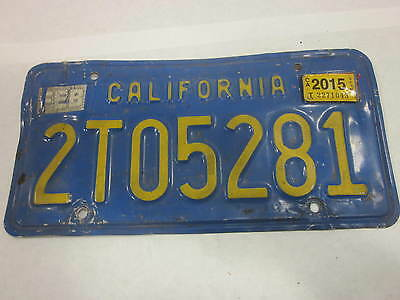 license plate California blue plate Collectible Vintage j2512