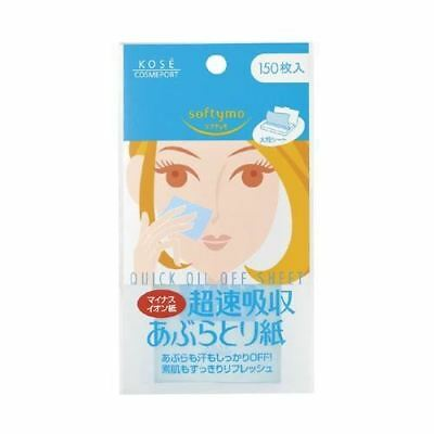 Kose Softymo Quick Oil Off Blotting Paper 150 Sheets Oil Control UK Seller