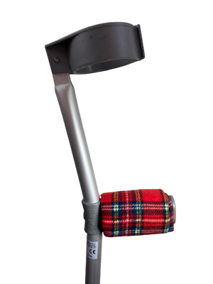 Padded Handle Comfy Crutch Covers/pads - Tartan
