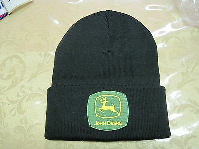 JOHN DEERE CAP KNIT BEANIE BEANNIE CAP With PATCH LOOK GREAT GIFT ITEM FOR YOU!