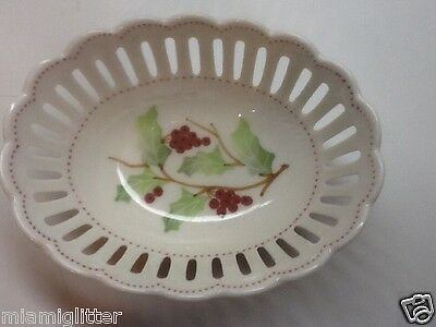 ANDREA BY SADEK OPEN WEAVE BOWL WITH  HOLLY DESIGN