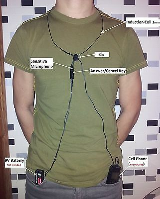 NEW Universal Spy earpiece Invisible Micro Wireless headset Exams Tests Cheating