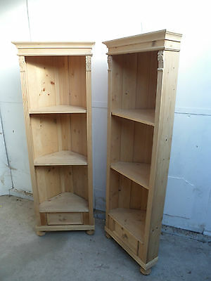 A Vintage Pair of Antique Pine Corner Cabinets to Paint or Wax