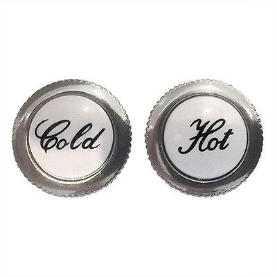 Replacement Hot & Cold Screw In Metal Tap Indices - Available In Chrome & Gold