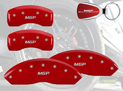 2006-2014 Mercedes-Benz C230 Logo Red Brake Caliper Covers Front Rear & Keychain