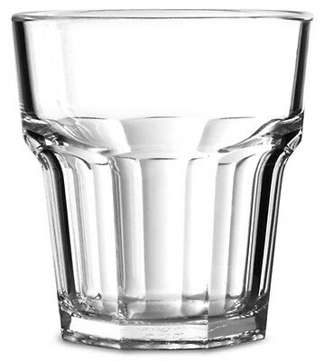 12 Verres multi-usages incassables en polycarbonate transparent, 25,6 cl