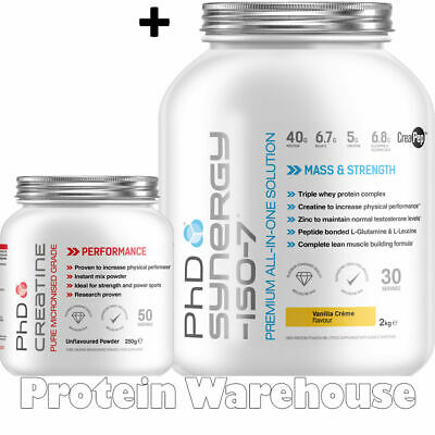 PhD Synergy Protein ISO 7 2 kg Iso 7 All in One + PhD Creatine 250g