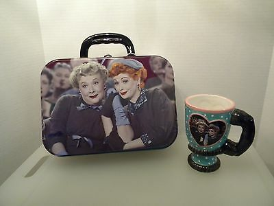 I LOVE LUCY COLLECTIBLE LUCY AND ETHEL FRIEND FOREVER LUNCH BOX AND CUP NEW