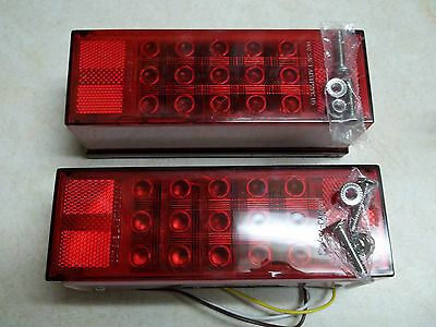 """Over 80"""" LED Submersible Combination Trailer Tail Lights Stud Mount ,boat pair"""