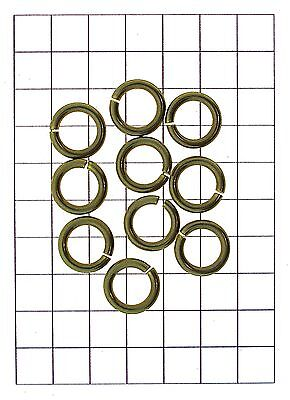 x10 Leathercraft Hardware Brass Ring O Link Fastener for Leather Straps 15mm