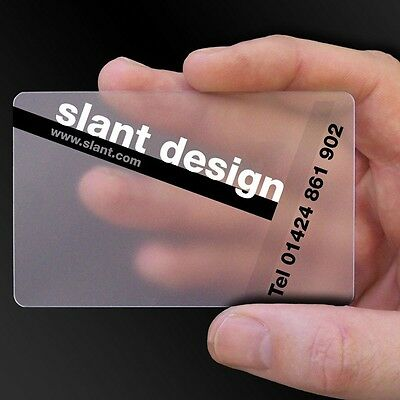 2500 Full Color Custom PVC Frosted Plastic Business Cards + Free design