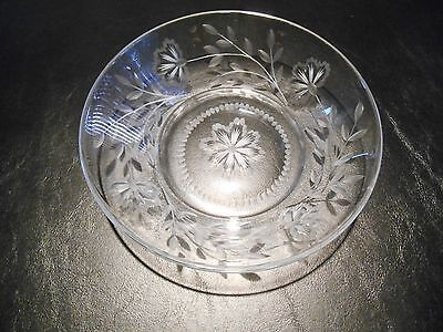 Heisey Bowl  etched flowers