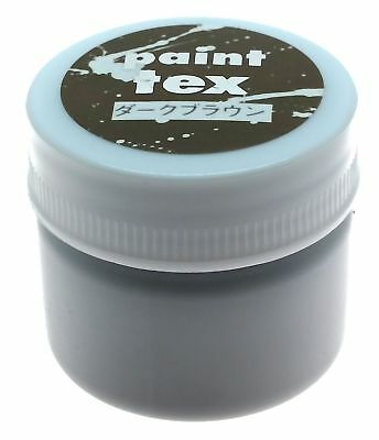 Leathercraft Fabric Dye & Leather Paint Tex Craft Colour No.9 Dark Brown 20g
