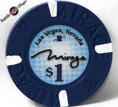 $1 ONE DOLLAR POKER GAMING CHIP THE MIRAGE HOTEL CASINO LAS VEGAS NEVADA 2009