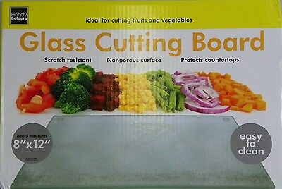 "Virtually Unbreakable Glass Cutting Board 11.5 "" x 7.5 seen on TV chopping block"